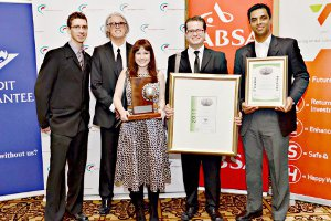Folio team members with their 2011 Exporter of the Year Award.