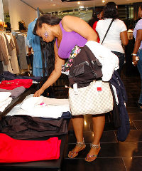 Customers browsing in Mango's Lagos store.