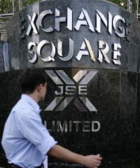 Outside the Johannesburg Stock Exchange building. South Africa has one of the most developed capital markets in Africa.