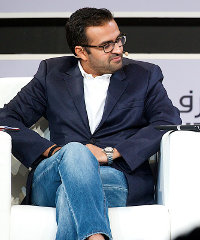 Ashish Thakkar at the Africa Global Business Forum in Dubai last week.