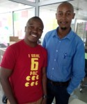 Mwasapi Kihongosi and Godluck Akyoo are the co-founders of TiME Tickets in Tanzania.