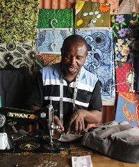 Entrepreneur Africa Zambia Tailor sewing 200x240