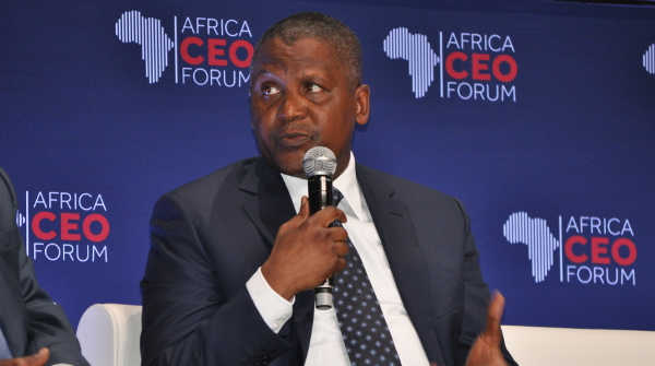 """I think this is the greatest time for somebody – for any company – to actually move in and invest,"" says Aliko Dangote at the 2016 Africa CEO Forum in Abidjan."